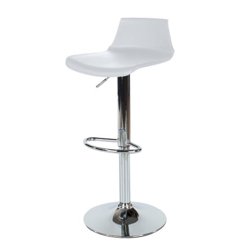 Aspen White Plastic Bar Stool ASBS2W (Sold In Pairs)